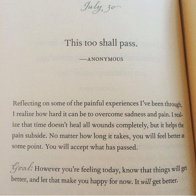 This too shall pass … | aesthetic | Passing quotes, Get well ...