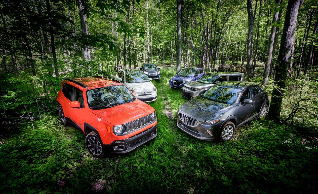 Mazda Cx 3 Awd Vs Fiat 500x Awd Honda Hr V Awd Jeep Renegade