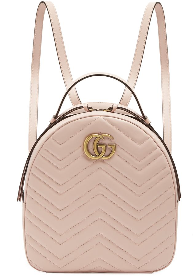 8aab103dd7e9 GUCCI GG Marmont quilted-leather backpack
