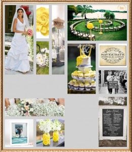 small simple wedding in yellow