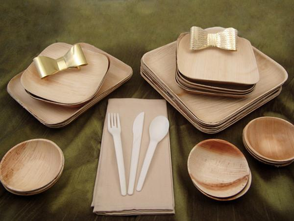Verterra Holiday Eco Chic Party Pack Biodegradable Products Holiday Packing Disposable Tableware