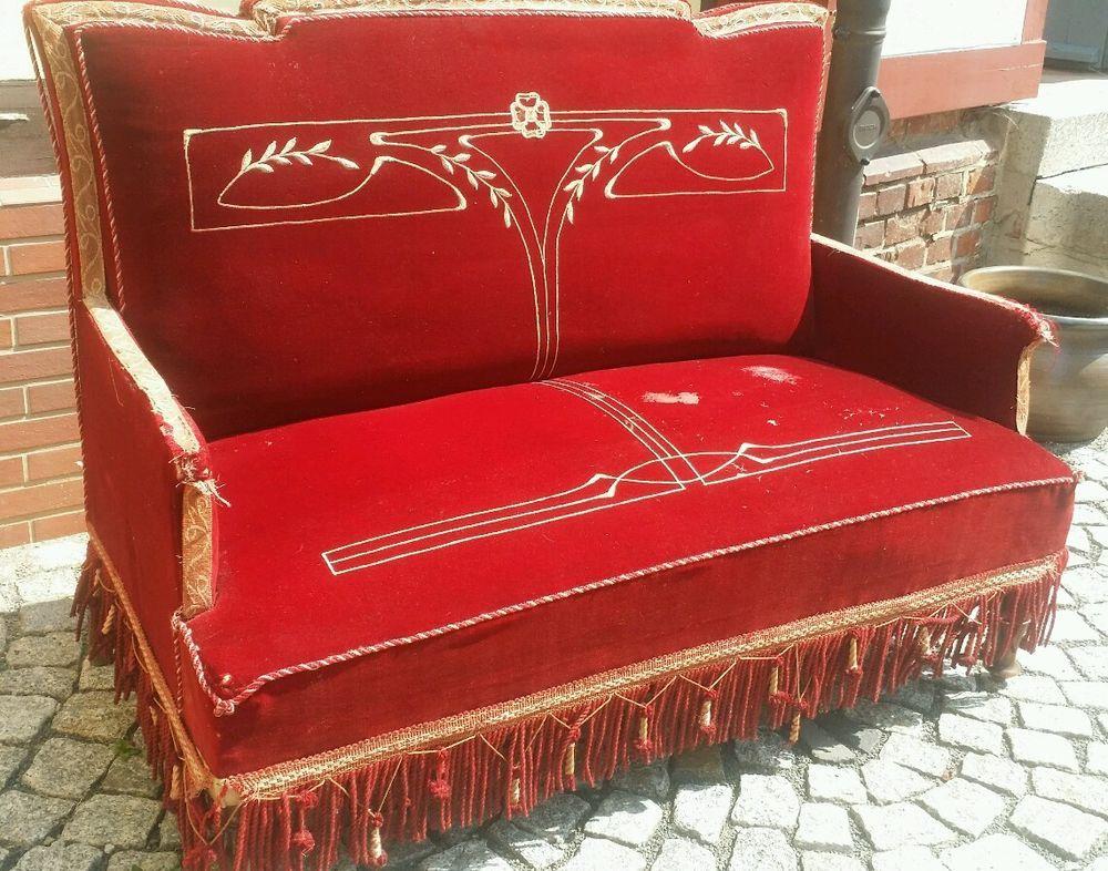 Kleines Jugendstil Sofa um 1900 | jugendstil/art deco | Pinterest ...