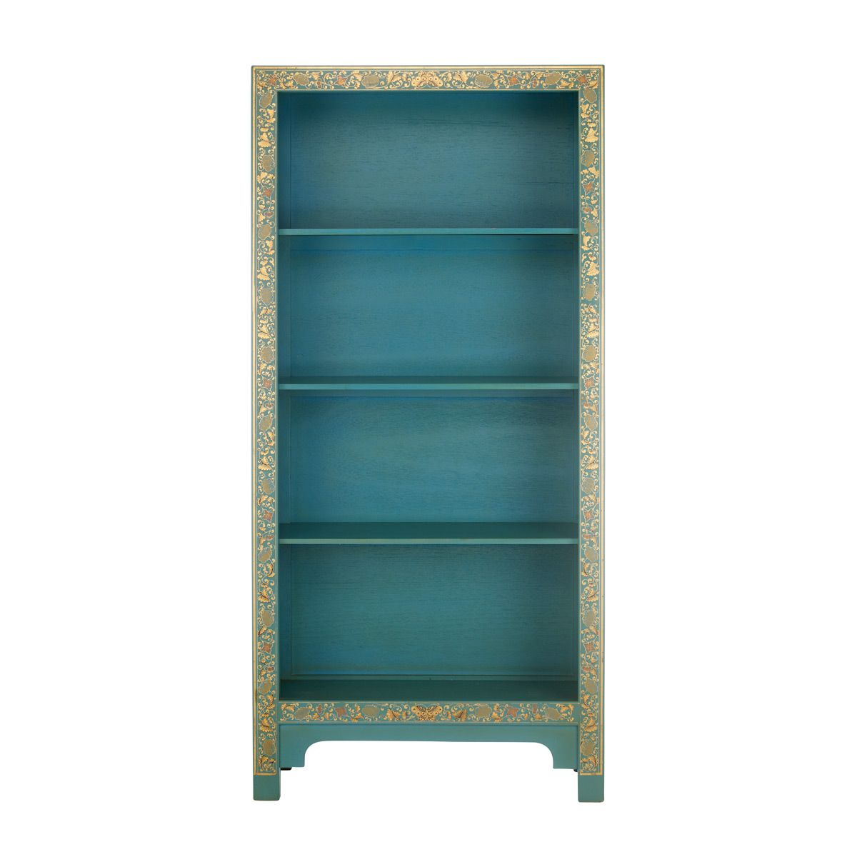 Chinese Bookcase In Blue