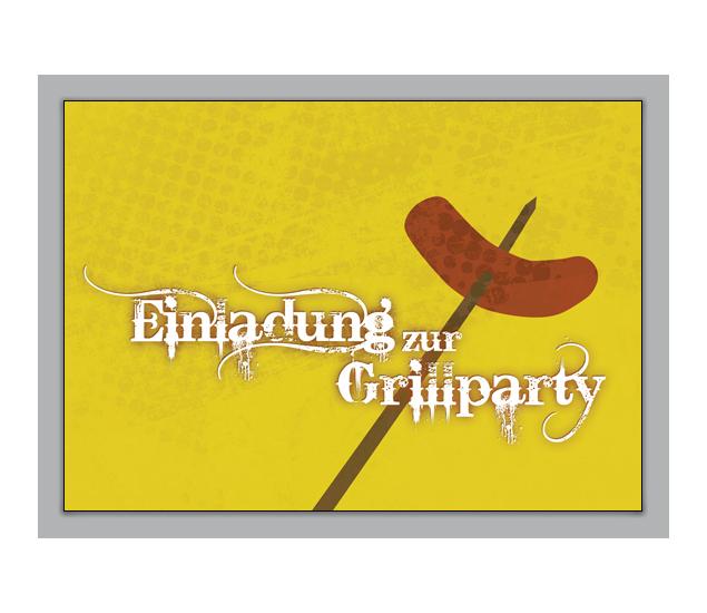 coole einladungskarte zum grillen: einladung zur grillparty - http, Einladung