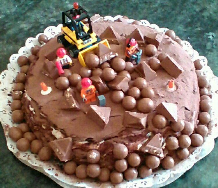 Gâteau Anniversaire Pour Petit Garçon De 6 Ans Vive Le Chantier Et