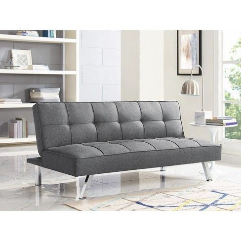 Chelsea Tufted Convertible Sofa In Light Gray Relax A Lounger