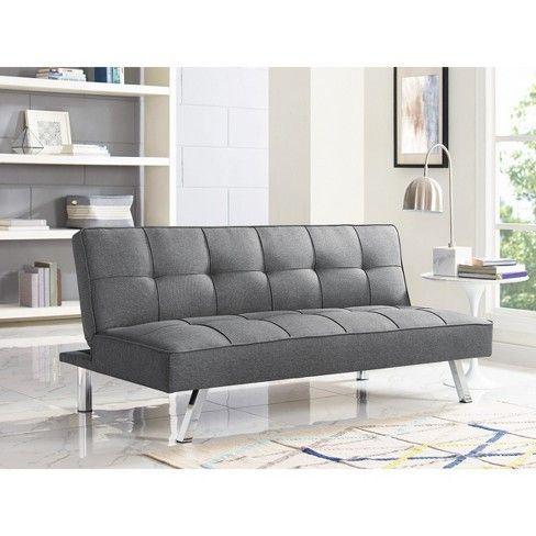 Chelsea Tufted Convertible Sofa In Light Gray Relax A Lounger Target Convertible Sofa Bed Convertible Sofa Futon Sofa