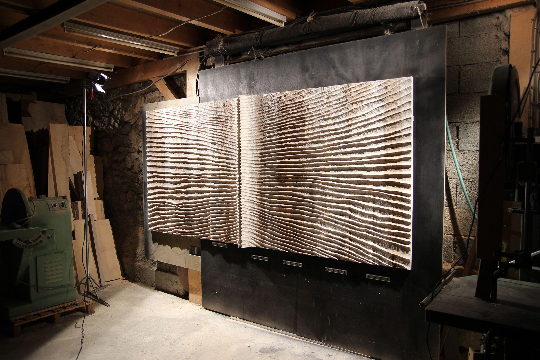 thierry martenon sculpture murale travail du bois en 2019. Black Bedroom Furniture Sets. Home Design Ideas
