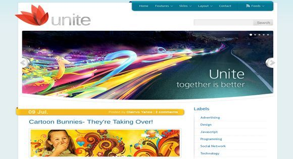 Unite light business blogger template web graphics theme wp free unite light business blogger template flashek Image collections