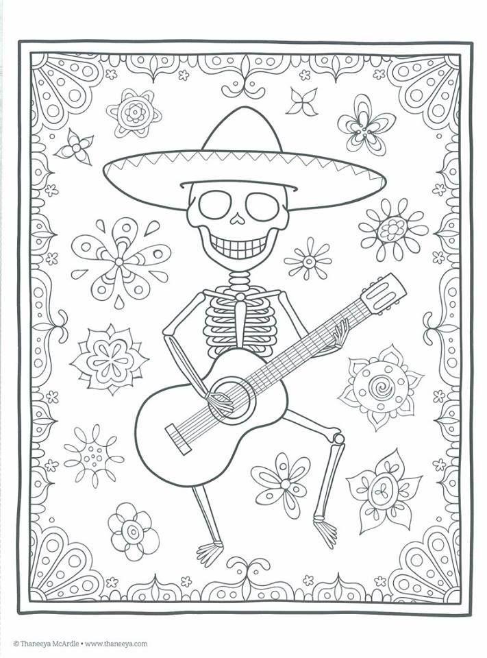 Dibujos Para Colorear El Dia De Los Muertos 42 Dibujo Dia De Muertos Calaveras Dia De Muertos Libro De Colores