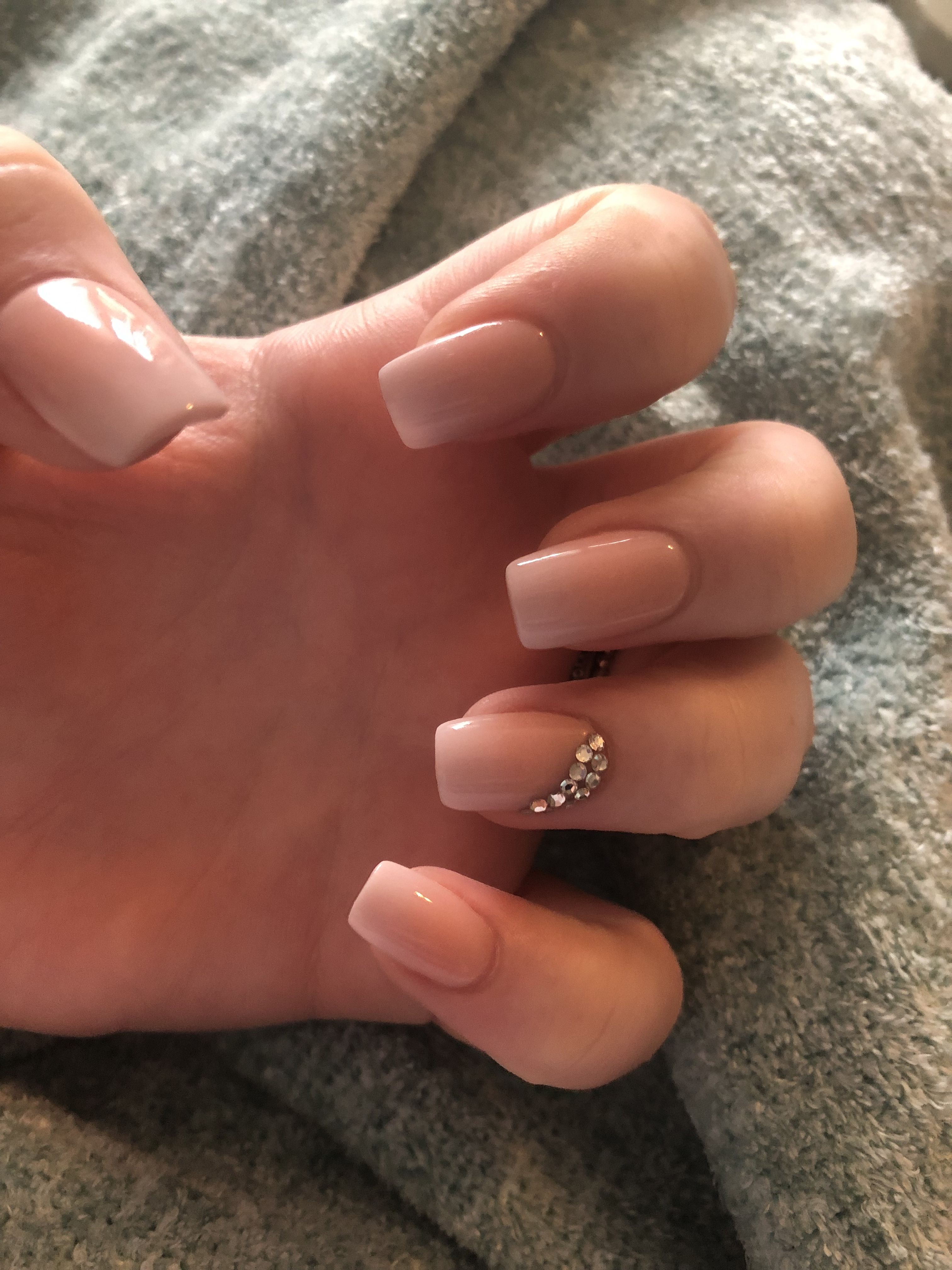 Pink To White Ombre With Diamonds Nails Ombre Nails Cute Nails And Dip Powder Ombre Nails Diamond Nails Nails