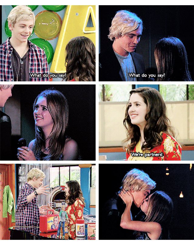 The Way They Look At Each Other Austin And Ally Austin Ross Austin Moon