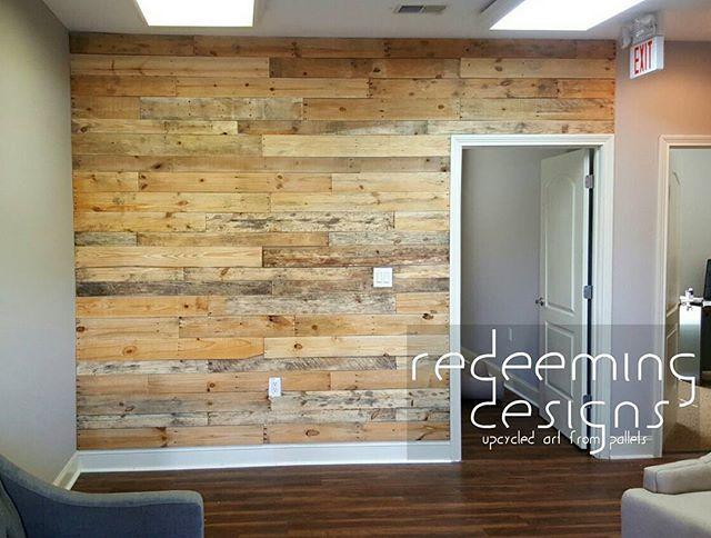Pallet wall office entrance. #redeemingdesignstn . . . # ...