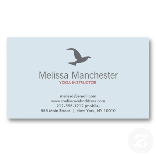 Customizable Business Card For Yoga Instructor