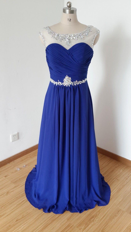 Long prom dressroyal blue prom dresslovegowncheap
