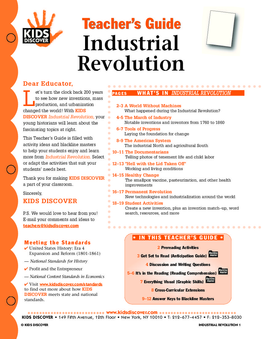 Uncategorized Industrial Revolution Worksheet industrial revolution kidsdiscover 7th grade social studies kidsdiscover