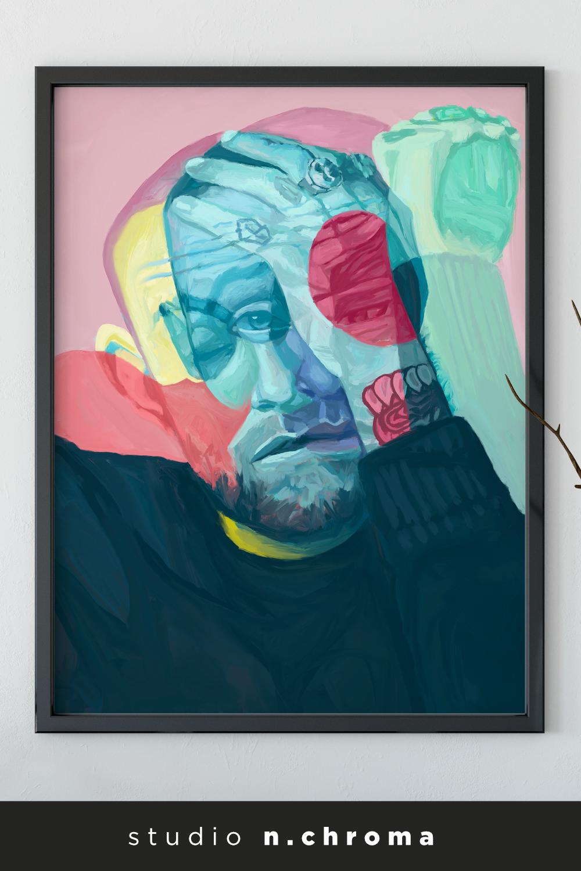 Original Mac Miller Circles Digital Painting Giclee Print Wall Art Home Decor Poster