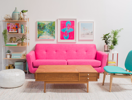 A Pink and Green Living Room! | home decor | Pinterest | Green ...