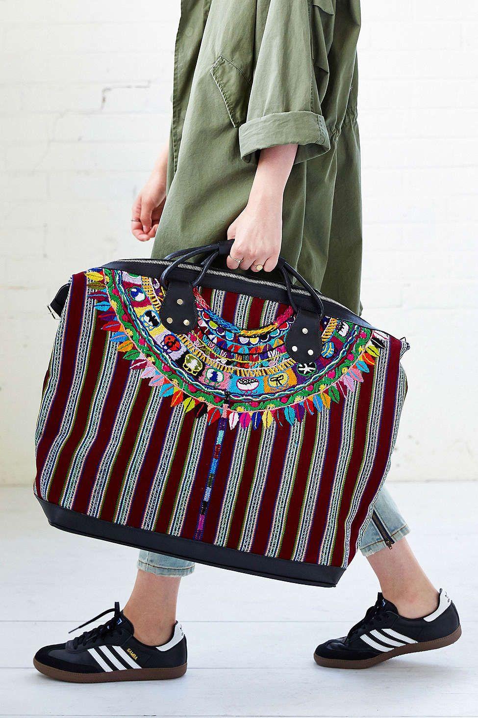 e04200dc99 Stela 9 Isabel Embroidered Weekender Bag Bolsas Mochila