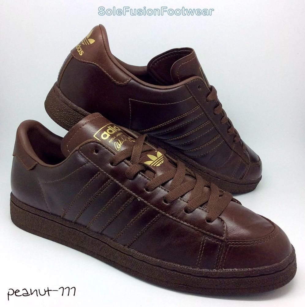 info for 4a50f 27a4c adidas Originals Mens Trainers Brown sz 10 ABDUL JABBAR Sneakers US 10.5 EU  44.6