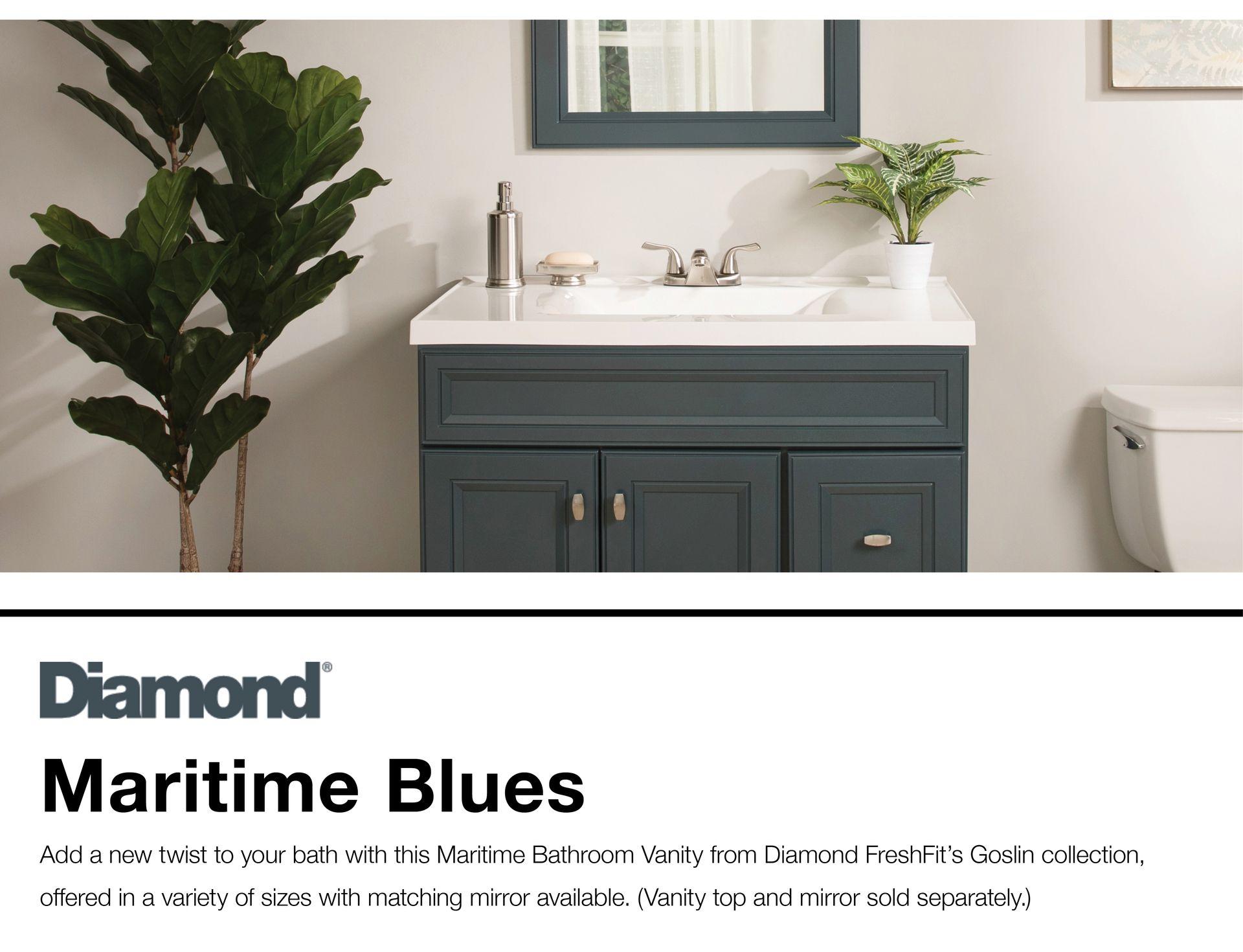 Diamond Freshfit Goslin 48 In Maritime Bathroom Vanity Cabinet Lowes Com Bathroom Vanity Cabinets Bathroom Vanity Vanity Cabinet