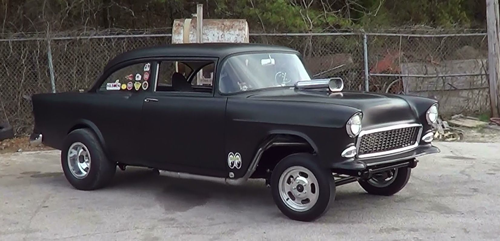 1955 chevrolet hot rod truck pictures to pin on pinterest - 52 Chevy Gasser On The Street