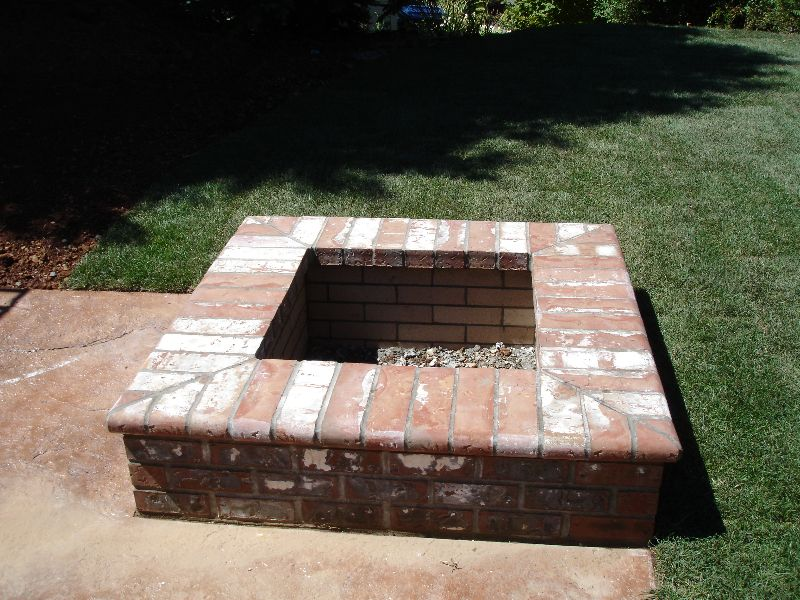 Square brick fire pit google search home pinterest for What kind of bricks for fire pit