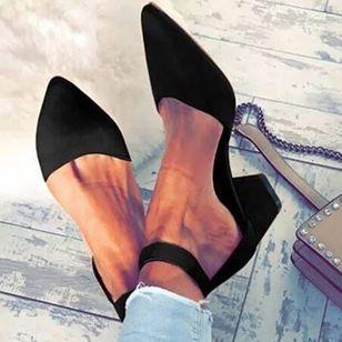 Baleriny Kobiece Zabudowane Buty Buty Na Slupku Floryday Chunky Heel Pumps Chunky Heel Shoes Chunky Heels