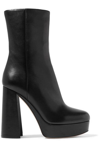 06bbc696c013f MIU MIU Leather Platform Boots. #miumiu #shoes #boots | Miu Miu in ...