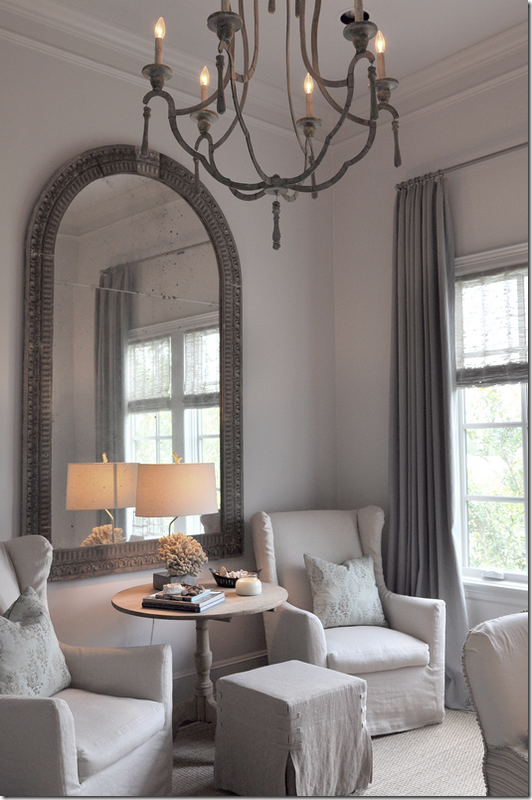 {Cote De Texas: Ginger Barber Designed Townhouse}, Love The Chandelier And  The Mirror!