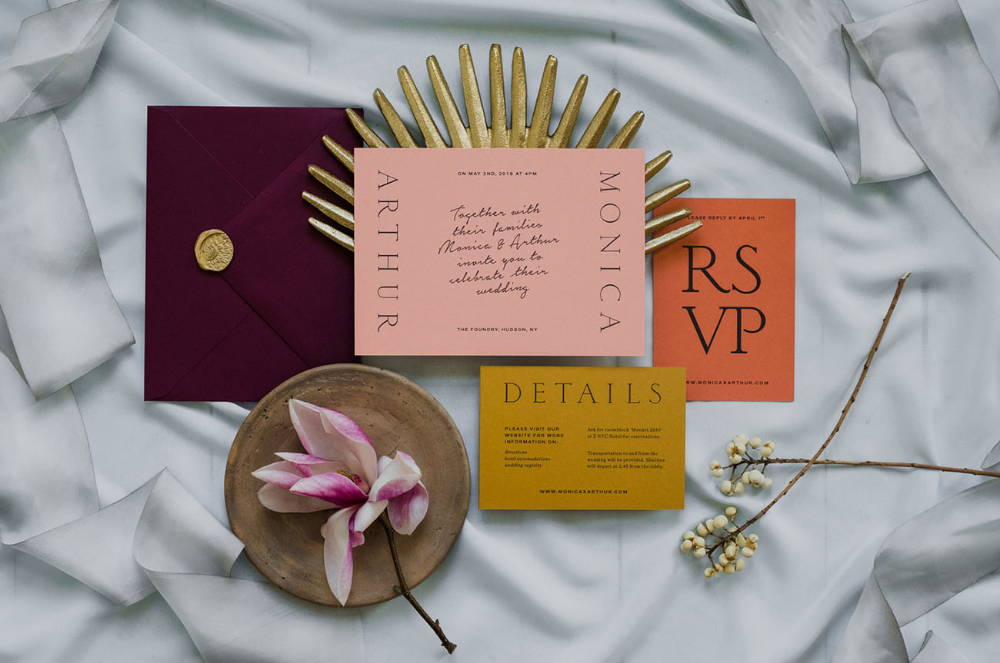 Minimalistic Scandinavian Design Meets a Moroccan-Inspired Color Palette for this Wedding Editorial
