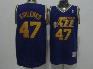 online store 6676d c6fe8 Utah Jazz Cheap NBA #47 Purple Soul Andrei Kirilenko ...