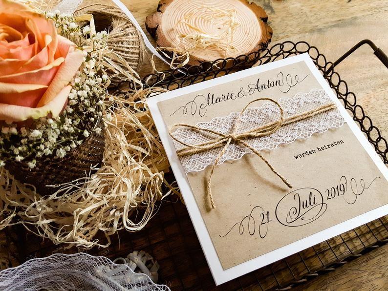 Hochzeitseinladung Vintage-ONLY HOCHZEIT Boho | Einladungskarte | Hochzeitskarten | Hochzeitsapetry | Tipp | Stärkepapier ZOÉ _ 9   – Hochzeit