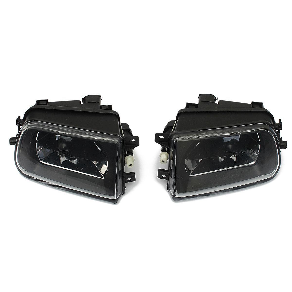 1 Pair Car Fog Lights Housing Driving Spot Light Black