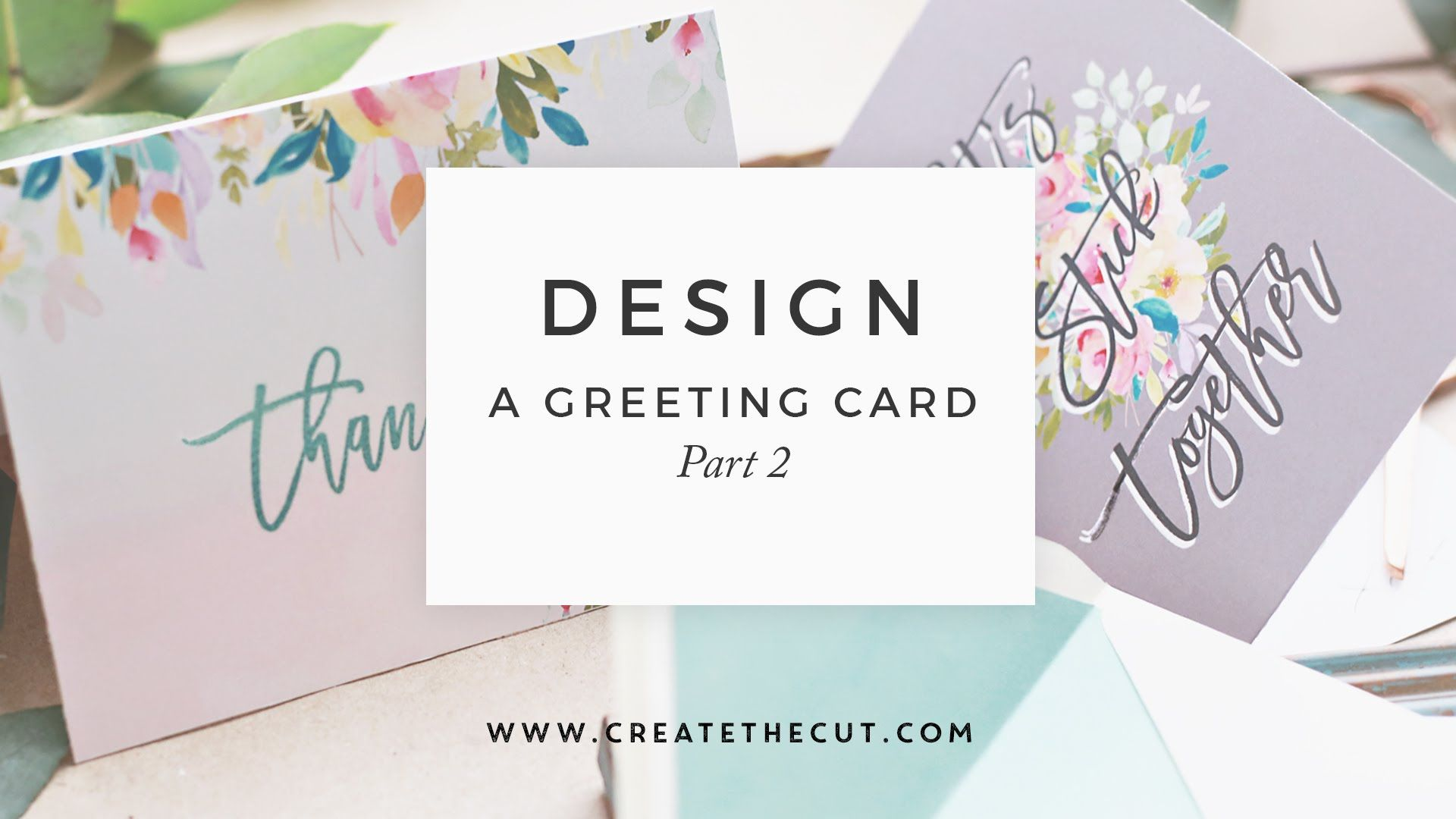 how to design a greeting card in photoshop adding artwork part 2