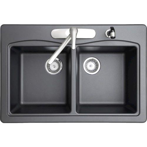 Swan Granite Double Bowl Kitchen Sink At Menards  Kitchen Ideas Amazing Menards Kitchen Sinks Design Decoration