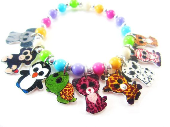 553182192bd Beanie Boo Charm Bracelet Beanie Boo Jewelry by ChildishAntics ...