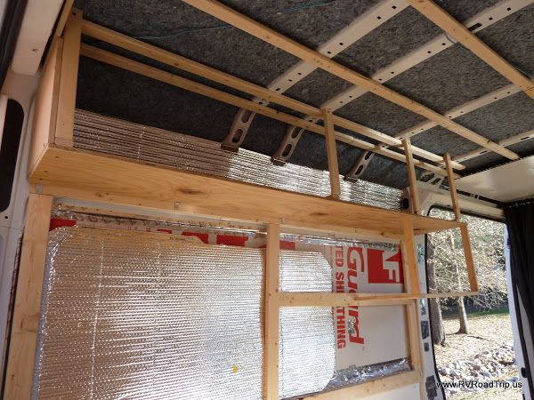 Promaster Conversion Upper Cabinets Van Conversion Walls Camper