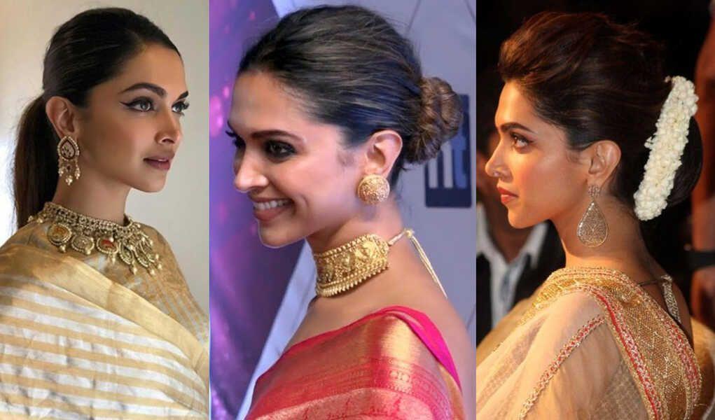 Deepika Padukone Hairstyles With Sarees - Style ...