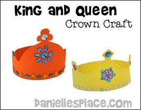 Crown craft printable king and queen crown patterns from for Art and craft crown