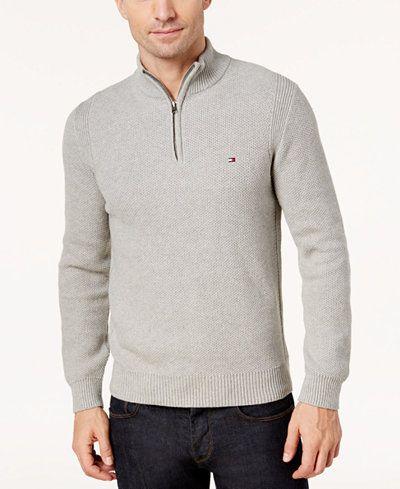 Tommy Hilfiger Mens Cotton Zip Through Cardigan