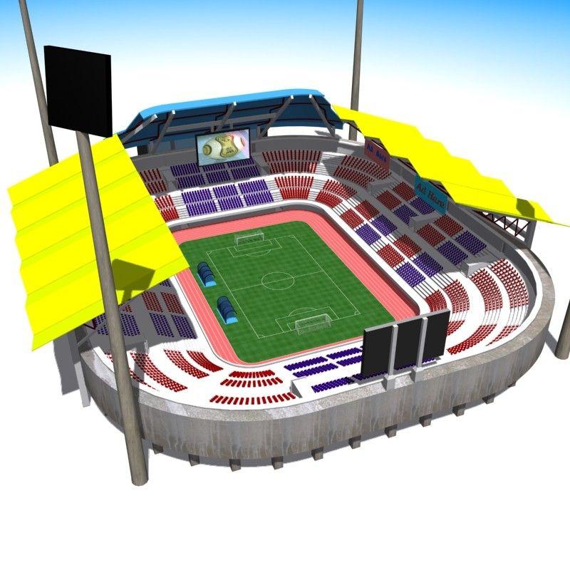 3d Soccer Football Stadium 3d Model Estadio De Futbol Estadios Futbol