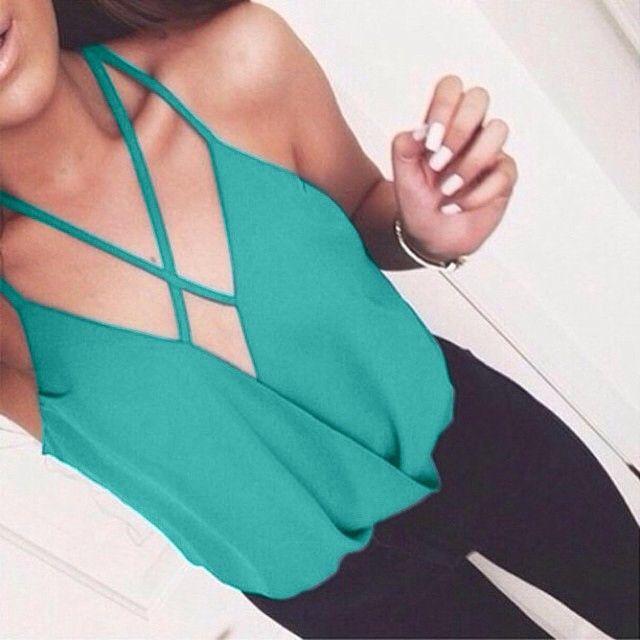 New fashion sexy sleeveless blouses ERY541WB