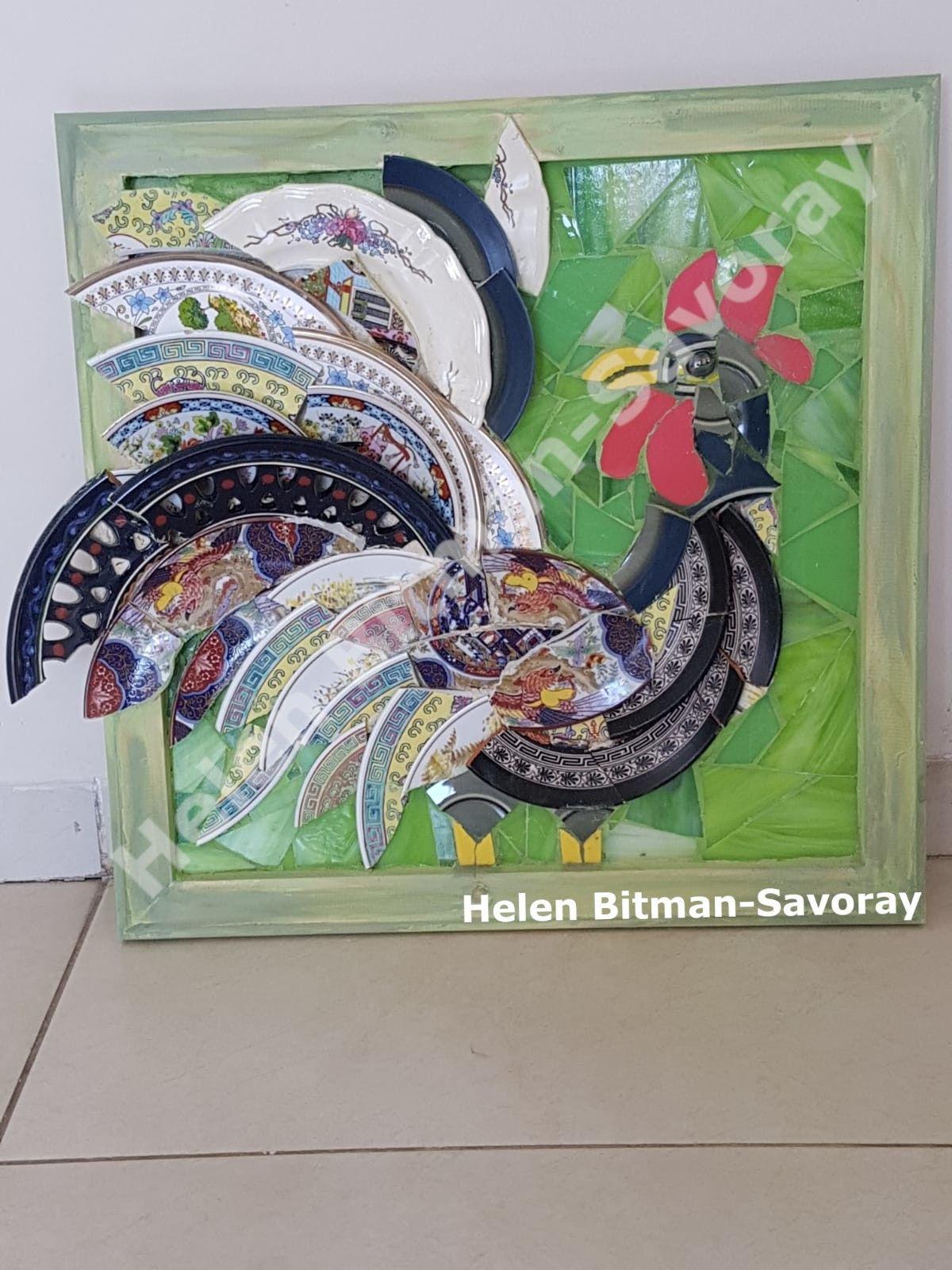 Broken Plates Mosaic Rooster Mosaic Animals Mosaic Birds Mosaic