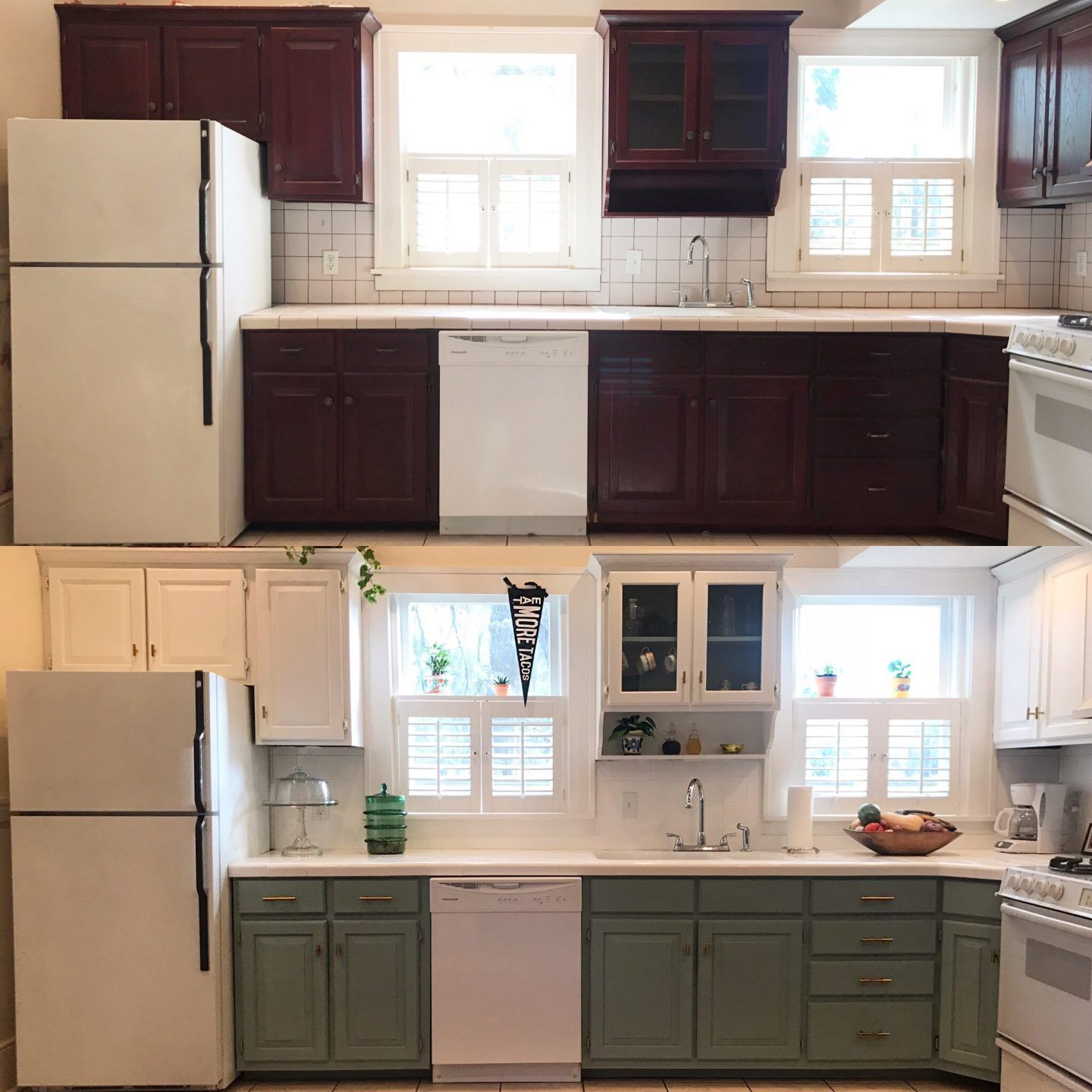 How to Update your Kitchen Cabinets Using Chalk Paint ...