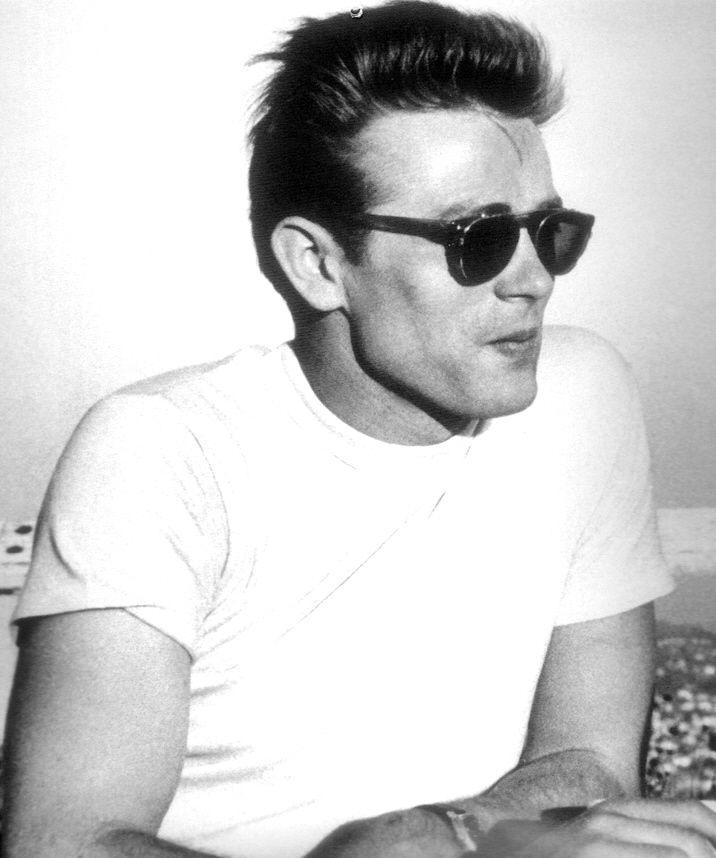James Dean in a white t-shirt
