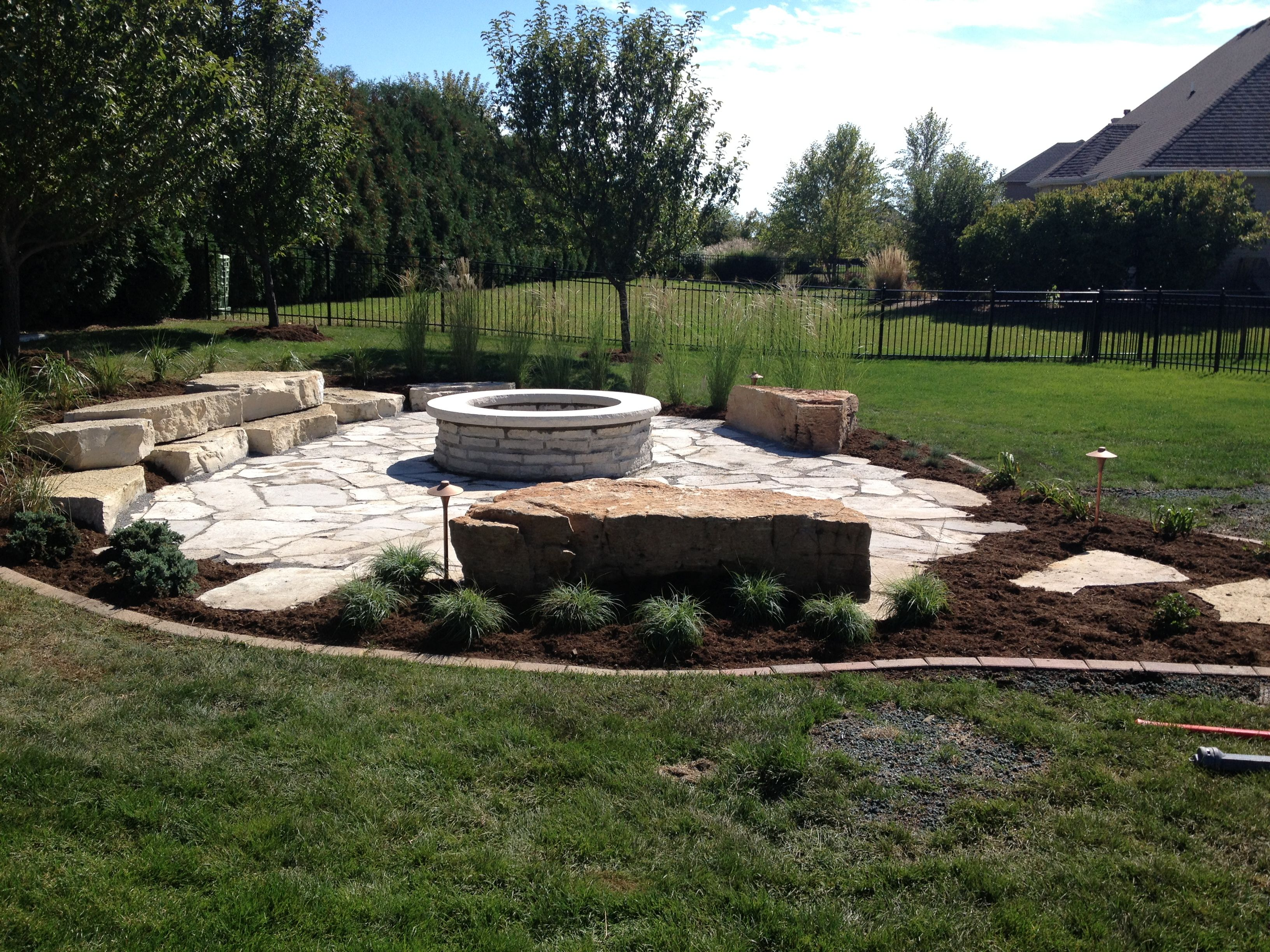 Rustic Outdoor Fire Pit Area