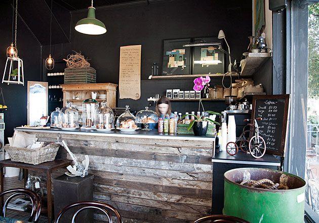 Interior design services vintage store and coffee shop No12