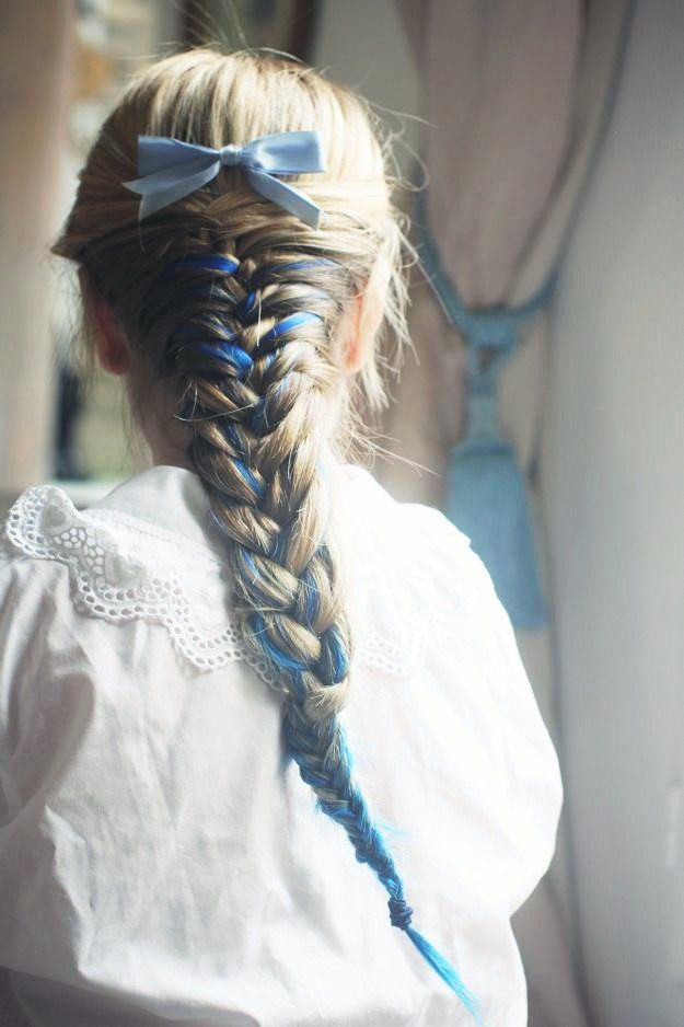 Something Blue Hair Styles Ribbon Hairstyle Pretty Hairstyles