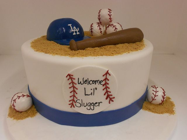Baseball theme baby shower cake 1969 Shower cakes Cake and Babies